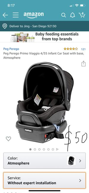 peg perego 4/35 infant car seat with base for Sale in San Diego, CA