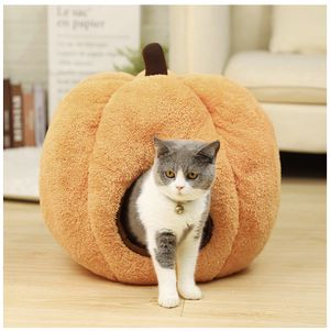 Halloween Cozy Cat Bed Puppy Hut Kitty Cave Pumpkin Dog Shaped Kennel for Sale in Prospect Heights, IL