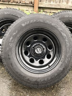 Barely used wheels & tires for Jeep Liberty, etc for Sale in Bremerton, WA