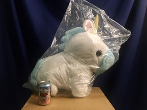 NEW YumeKawa Unicorn Angelic Blue JUMBO Big (21 inches) Plushy Japan UFO Catcher Import for Sale in Seattle, WA