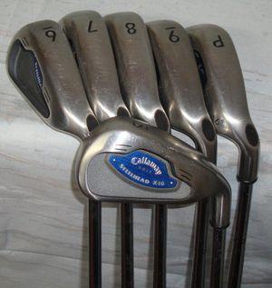 Callaway steelhead X-16 right handed 5-6-7-8-9-PW steel shaft for Sale in Carson, CA