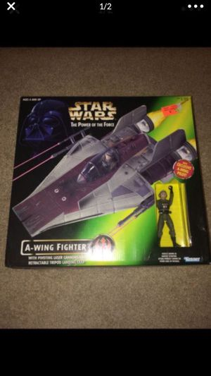 Star Wars A-Wing Fighter with action figure for Sale in Cibolo, TX