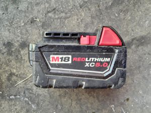 Milwaukee M18 5.0 Ah Battery for Sale in Bell, CA