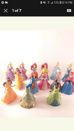 Disney Princess Magic Clip Doll Polly Pocket Lot Of 13 Dolls for Sale in Los Angeles, CA