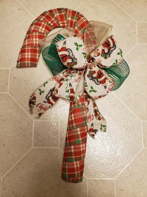 Homemade Christmas holiday door decor for Sale in Midwest City, OK