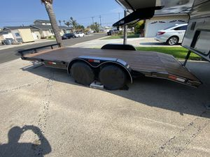 """New never used 18 by 83"""" 2021 Car trailer 7000 pounds, electric brakes, led lights for Sale in Anaheim, CA"""