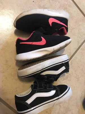 Nike and vans for toddler girl for Sale in Orange, TX