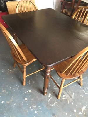 "Dining table with chairs Real wood, measurements 36"" wide,48"" long, 30"" high. for Sale in Port Richey, FL"