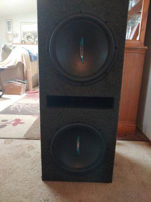(2) 12 Inch Image Dynamics Subwoofers With Bandpass Box for Sale in Marysville, WA
