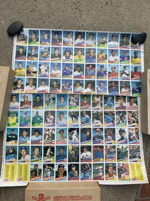 1985 Topps uncut Baseball card sheet for Sale in Brea, CA