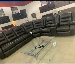 🍁BRAND NEW 🍃 SPECIAL] Vacherie Black Reclining Sectional for Sale in Laurel, MD