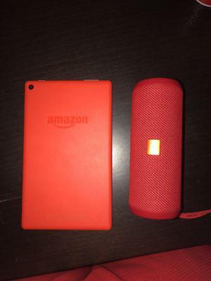 32g Amazon Fire Tablet / Portable JBL Speaker for Sale in Austin, TX