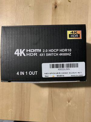 HDMI Switch 4x1 4K@60Hz for Sale in Franklin, NJ