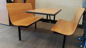 Restaurant table with bench seat 7 tables this style a available in Boca can deliver . for Sale in Ocean Ridge, FL
