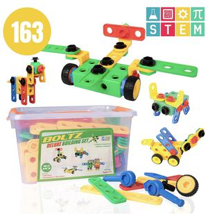 USA Toyz 163pk STEM Building Toys for Kids – Educational Preschool Kindergarten Building Games, Gear Tinker Toys for Toddler Boys Girls Age 3 4 5 6 7 for Sale in Brooklyn, NY