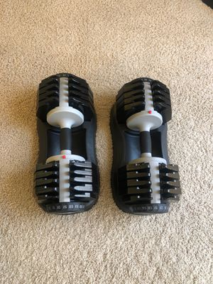 55 Pound Adjustable Dumbbells for Sale in Seattle, WA