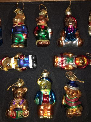 2002 Collection Thomas Pacconi Blown Glass Christmas Holiday Ornament Set Crate for Sale in Rancho Palos Verdes, CA