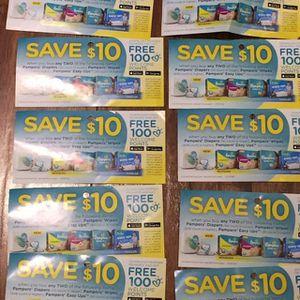 Save $10 off 2 things of pampers wipes for Sale in Cincinnati, OH