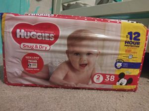 New, unopened pack of Huggies snug & dry size 2 diapers for Sale in Apopka, FL