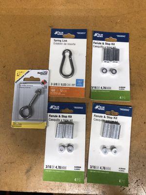 Miscellaneous hardware, 3 Ferrule kits, stainless spring clip & eye bolt. for Sale in Bradenton, FL