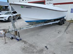 2001 Continental Trailer 25 Ft plus Free Boat, AquaSport 2100 for Sale in Miramar, FL