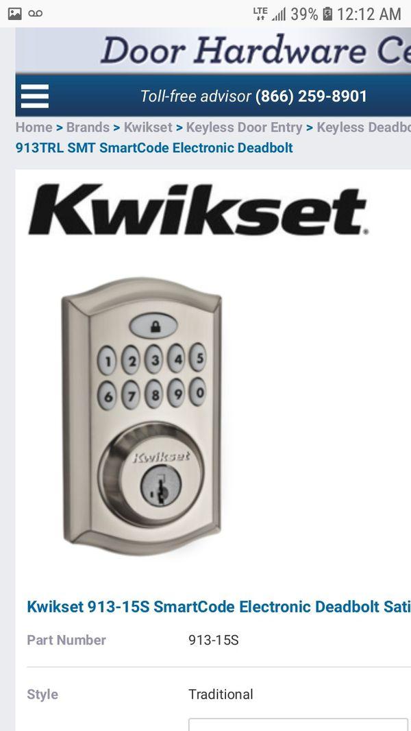 Kwikset Smart Code Deadbolt Lock Retails For Over 120