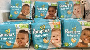 Pampers baby dry sizes 3-6 for Sale in Miami Lakes, FL