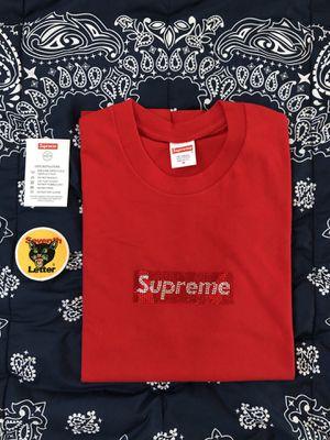 Supreme x Swarovski Box Logo Tee for Sale in Sylmar, CA