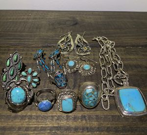 Antique turquoise and silver jewelry lot for Sale in Nashville, TN