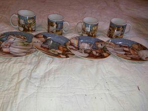 SET OF 4 DAVID CARTER BROWN INC PANTRY CROCKERY MUG & PLATES for Sale in Charlotte, NC