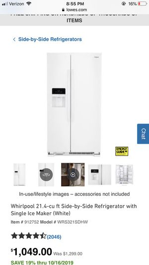 Whirlpool side by side refrigerator for Sale in Los Angeles, CA