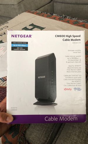 Netgear CM600 high speed cable modem for Sale in Fort Leonard Wood, MO