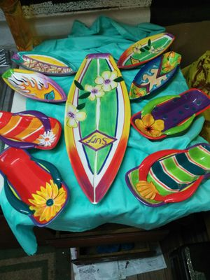Surfboard and flip flop dishes for Sale in Salem, OR