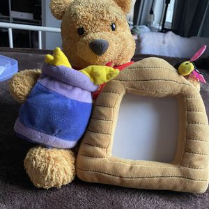 Winnie the Pooh Stuffed Plush w/ Picture Holder for Sale in Paterson, NJ