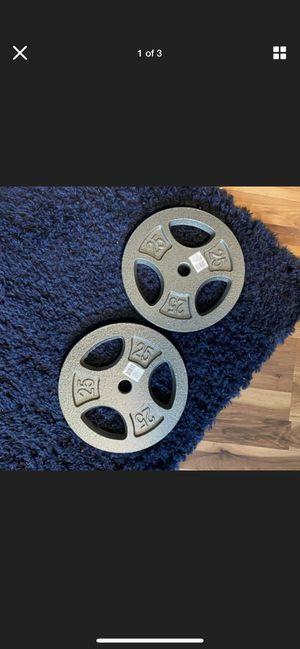 Cap 25 lbs standard plates set for Sale in Hayward, CA