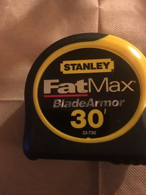 Brand New Never Use STANLEY FAT MAX TAPE MEASURE 30'-FEET $15.00 for Sale in Philadelphia, PA