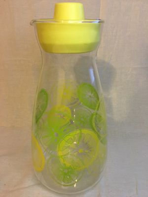 Pyrex vintage lemon/lime glass pitcher with lid for Sale in Diamond Bar, CA