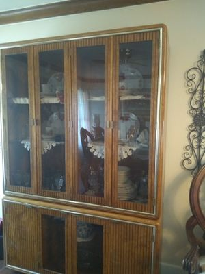 Antique 1980's Wooden China cabinet for Sale in New Caney, TX