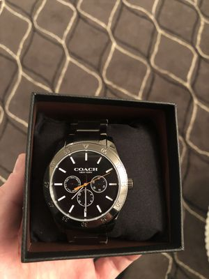 Coach watch, new*, (Preston gray stainless steel 40mm) $395MSRP for Sale in Annandale, VA