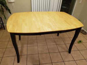 Counter Height Wood Dining Table with Leaf Extension for Sale in Riverside, CA