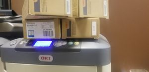 Oki C711WT (white Toner printer) in excellent condition for Sale in Denver, CO