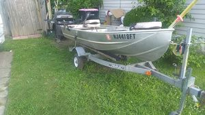 aluminum boat 650.00 obo for Sale in Blackwood, NJ
