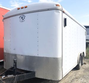 7x16 Cargo Express Enclosed Tandem Trailer - Ramp Door for Sale in Walton Hills, OH