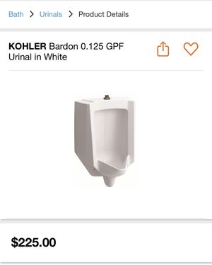 Kohler urinal for Sale in Moreno Valley, CA