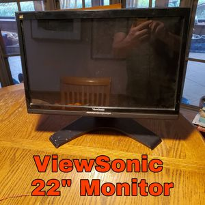 """Viewsonic VX2258WM 1920 x 1080 Resolution 22"""" WideScreen LCD Flat Panel Computer Monitor Display for Sale in Grapevine, TX"""