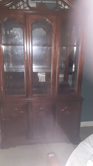 Cherry walnut China cabinet for Sale in Douglasville, GA