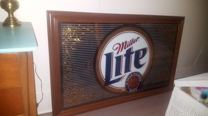 Large Miller Lite mirror in excellent condition for Sale in Peoria, IL