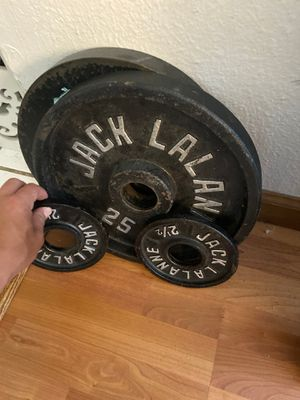 olympic bar weights, 2 25's n 2 2-1/2 pounds for Sale in Seattle, WA