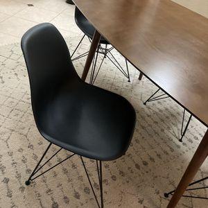 4 Black Modern Chair Set for Sale in El Cajon, CA