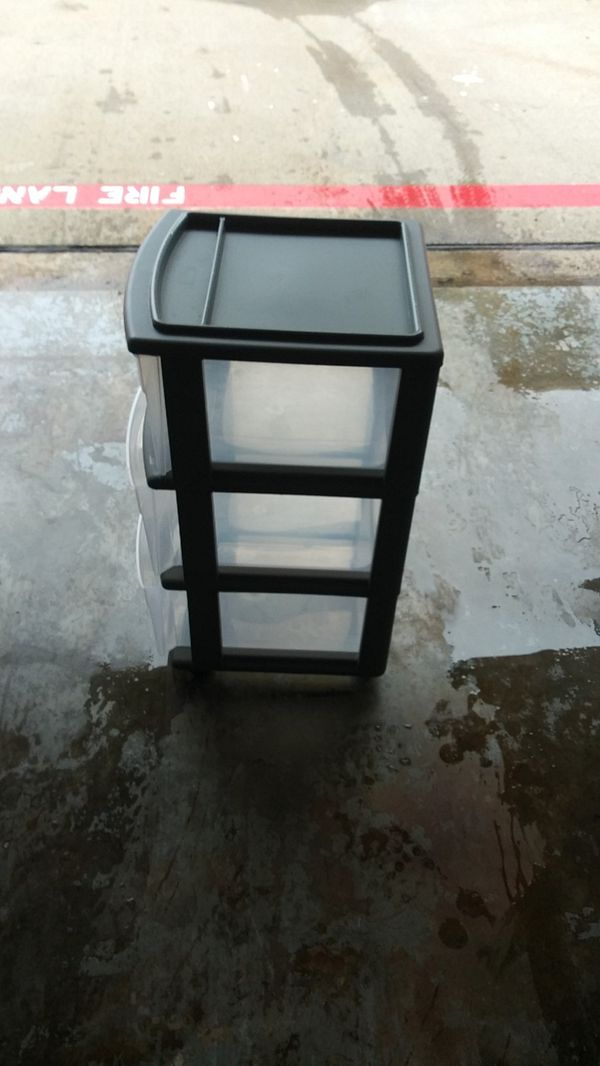 3 drawer plastic drawer with wheels